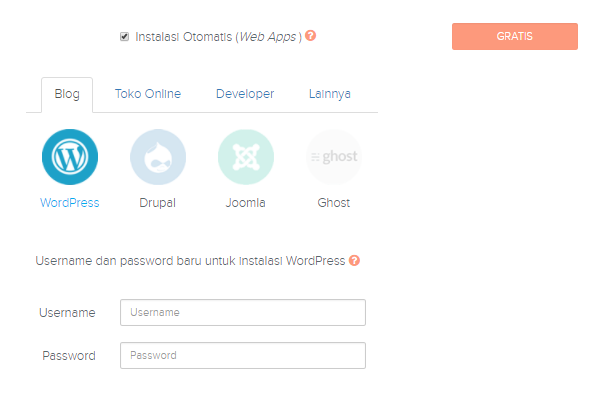 Membuat Blog Install WordPress