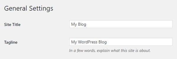 Pengaturan Blog Judul Blog