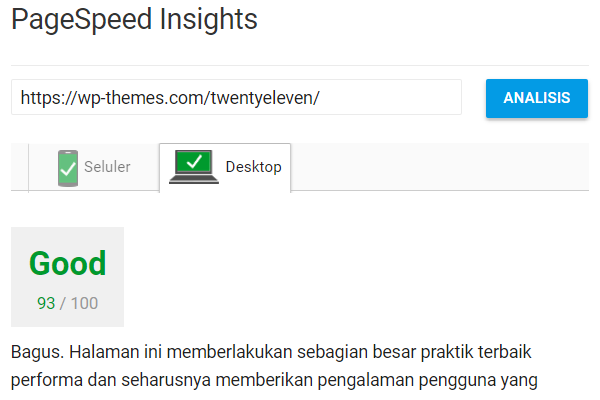 Perlengkapan Blog PageSpeed