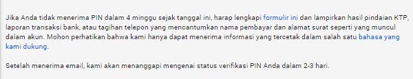 Verifikasi Adsense Lewat KTP Adsense 2