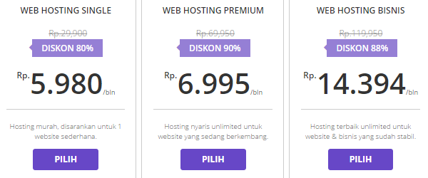Harga Web Hosting Indonesia Terbaik Yang Pas Buat Blogger Pemula