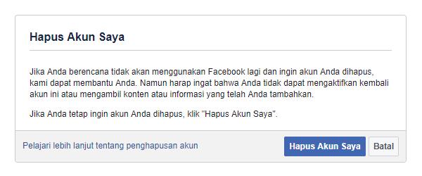 Cara Menghapus Akun Facebook Permanen Hapus Akun