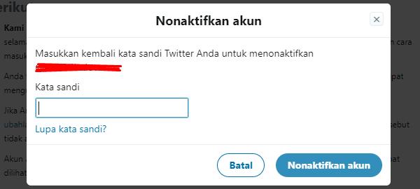 Cara Menghapus Akun Twitter Permanen Password