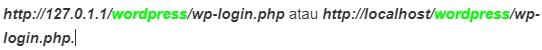 link wp admin